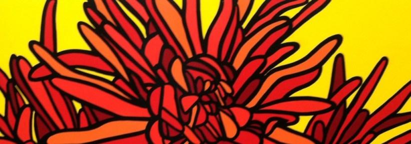 chrysanthemums # 4 -36h x 42w