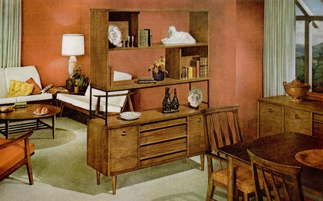 Image of: History Of Mid Century Modern Room Dividers Making Borders Within Open Spaces Home Rebellion