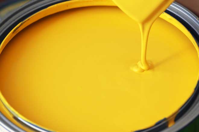 Can of Yellow Latex Paint