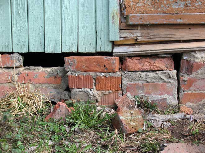 Damaged Brick Foundation