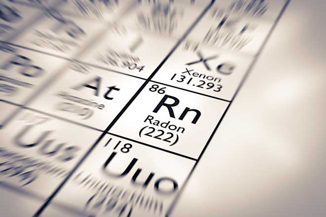 Radon on the Periodic Table of Elements