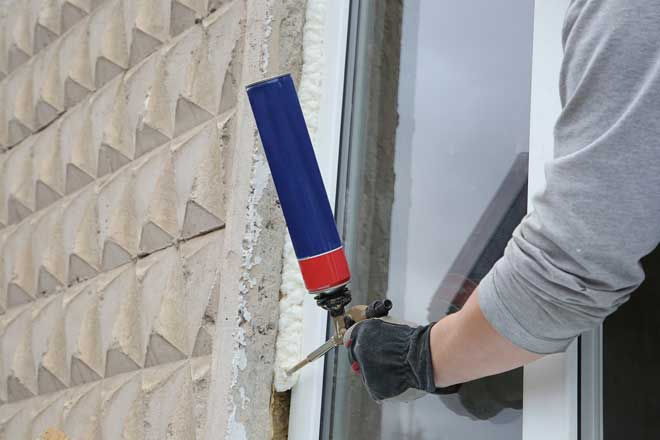 Sealing a Window with Polyurethane Foam