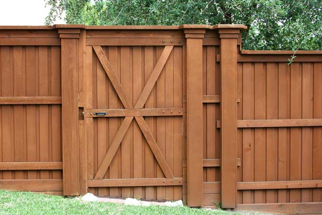 Solid Cedar Privacy Fence