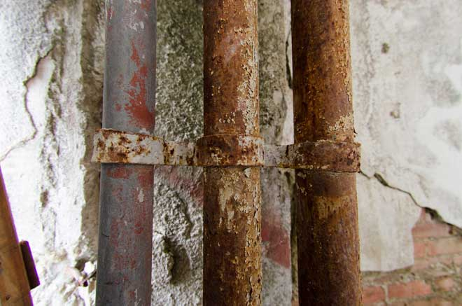 Rusted and Moldy Plumbing Pipes
