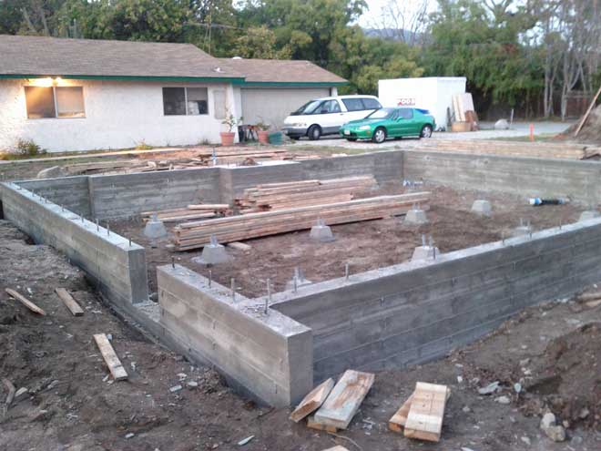 Crawl Space Foundation Under Construction