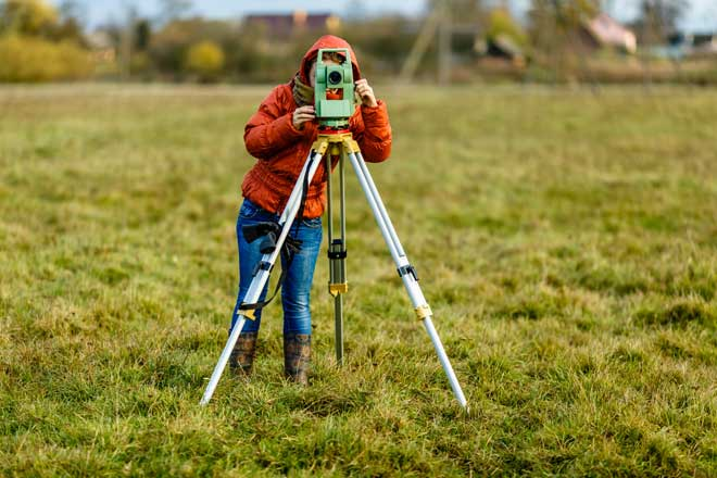 Land Surveyor at Work