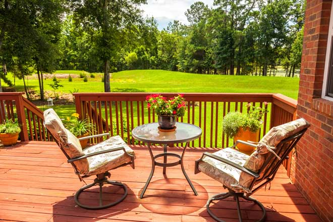 Residential Deck with Furniture