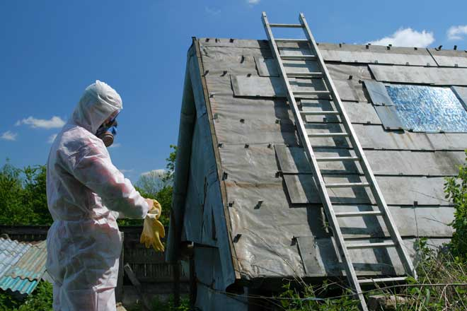 Removing Asbestos Roofing Material