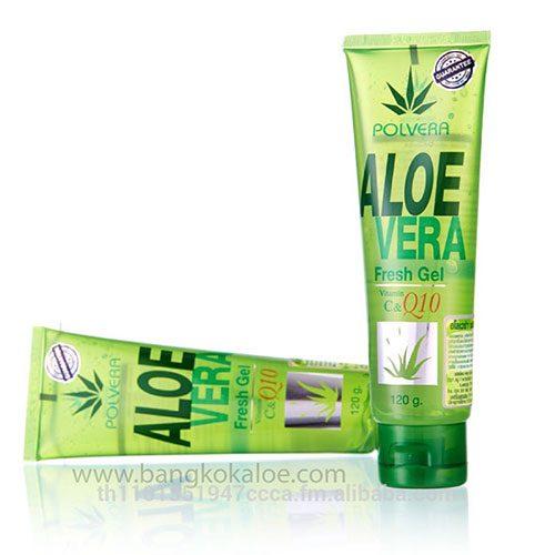 Fresh Aloe Vera gel for sunburn relief