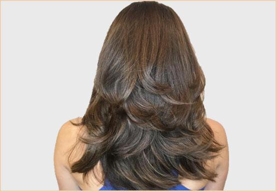 Hair Cut in Layers