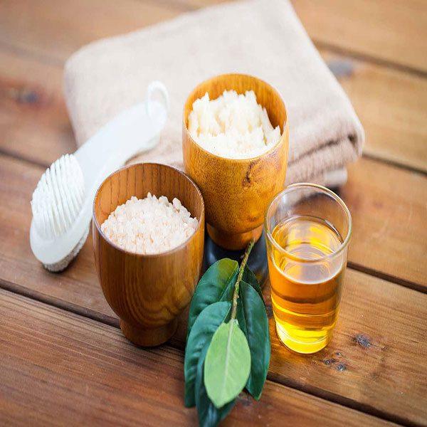 Use of apple cider vinegar and salt