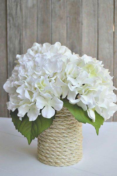DIY Beachy Sisal Rope Vase | Home Remedies Rx.com