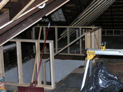 Attic Safety Handrail Framing