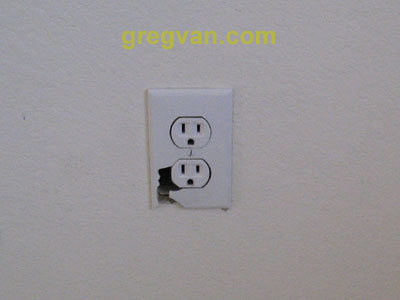 Broken Electrical Outlet Cover