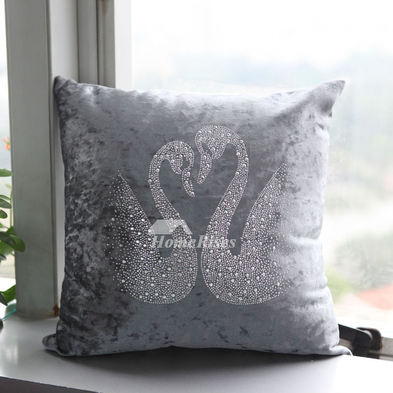 Unique Kitchen Ceiling Lights Festive Swan Unique Animal Plush Couch Silver Throw Pillows