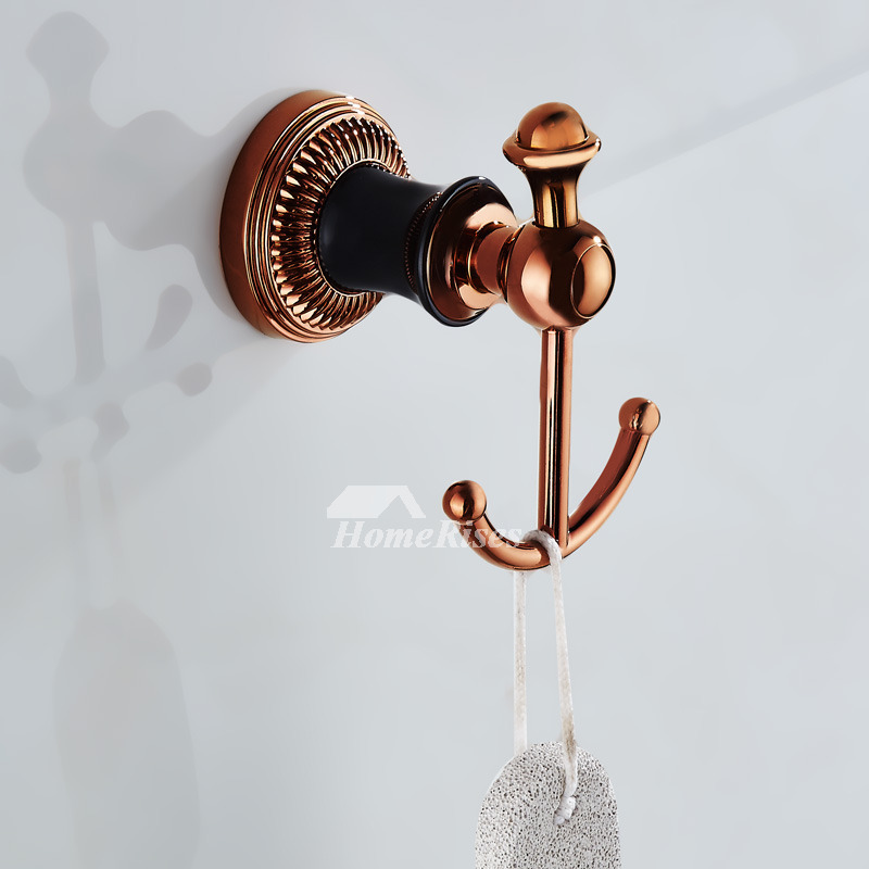 Unique Robe Hooks Rose Gold Wall Mount Alloy Nautical Shaped