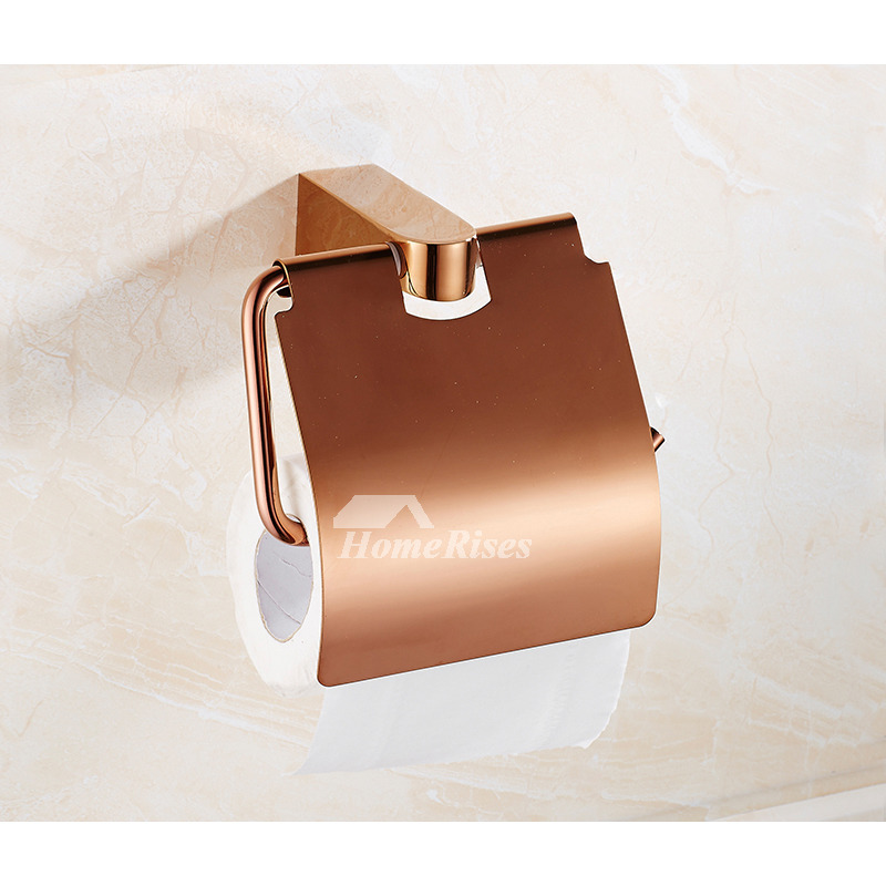 Designer Door Knockers Quality Rose Gold Wall Mount Brass Bathroom Accessories Set