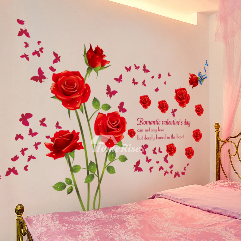Designer Door Knockers Adhesive Wall Stickers Flower/letter Decorative Bedroom