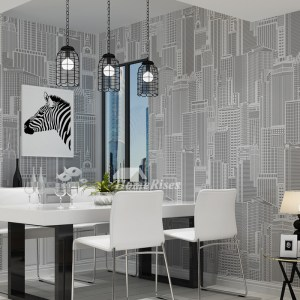 living modern yellow textured cheap gray pvc wall decor