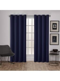 lot de 2 rideaux occultant 140 x 260cm bleu marine homerokk