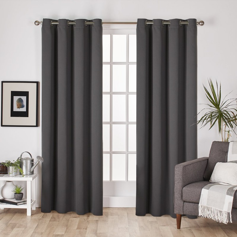 lot de 4 rideaux occultant 140 x 260cm anthracite homerokk