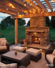 Outdoor Patio Wood-Burning Fireplace