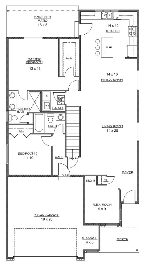 New Construction Floor Plan: The Roma Ranch Home