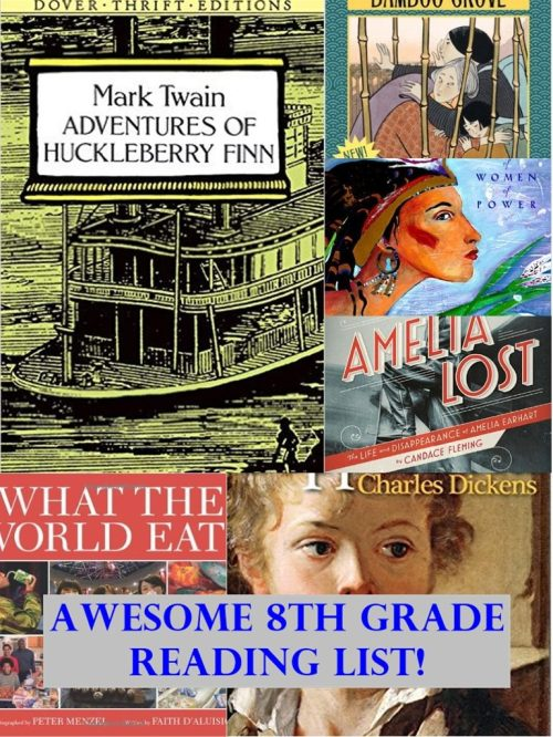 small resolution of Recommended 8th Grade Reading List   Homeschool Curriculum