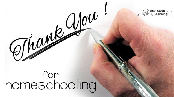 thank you for homeschooling