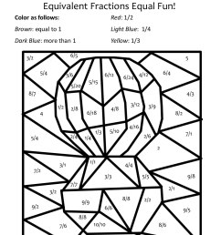 Simple Equivalent Fractions Worksheets   Printable Worksheets and  Activities for Teachers [ 1650 x 1275 Pixel ]