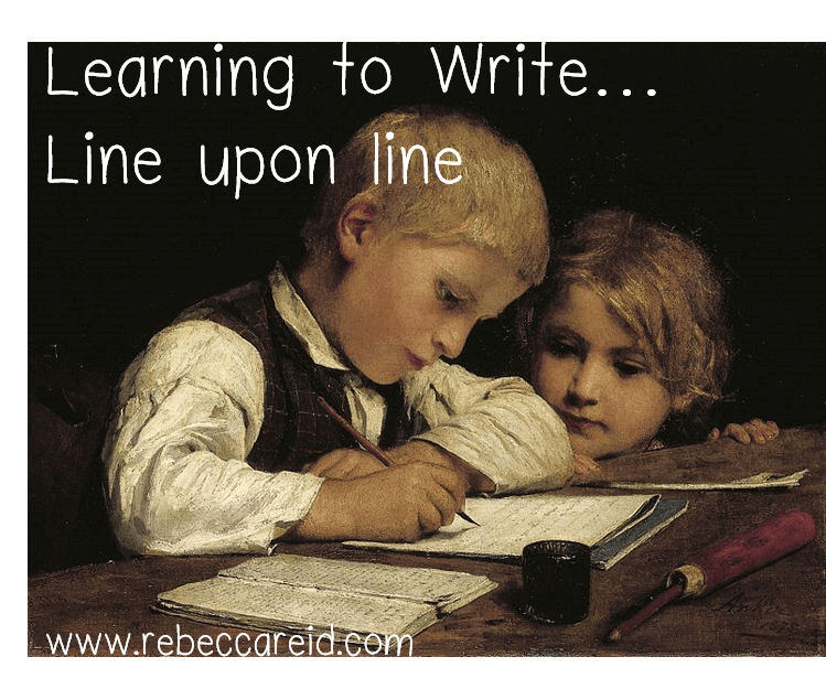 learning to write line upon line