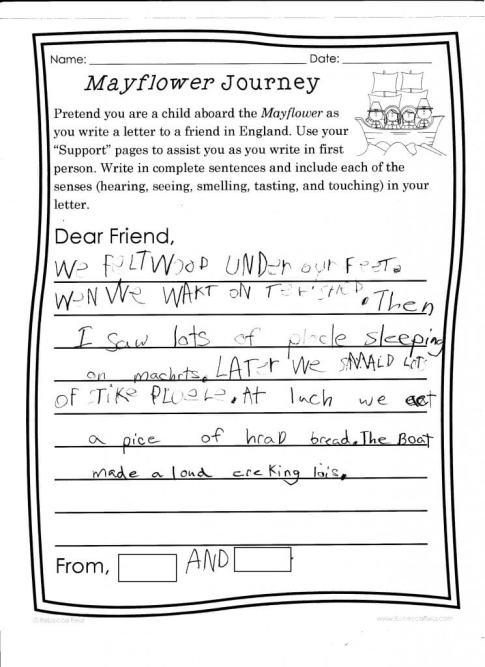 Mayflower letter