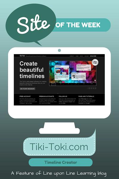 teach with technology site of the week tiki-toki