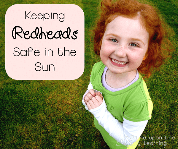 redheads in the sun
