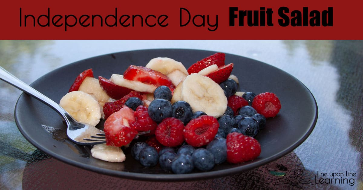 Mix red, white, and blue fresh fruit with lemon juice for an easy and patriotic Independence Day fruit salad.