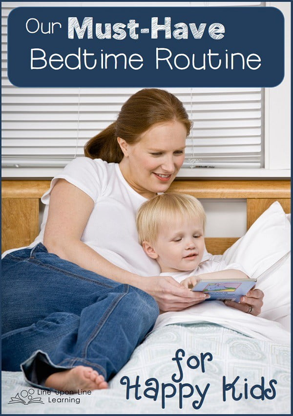 A bedtime story time and a regular bedtime routine is a must-have at the end of our long homeschooling days.
