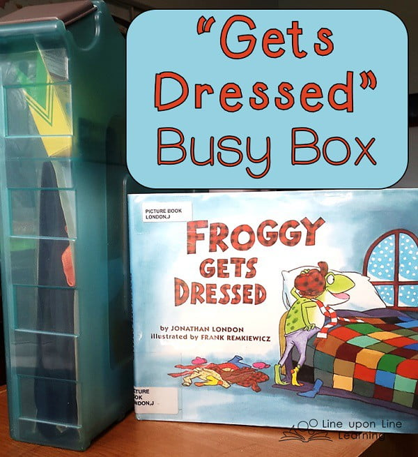 gets dressed busy box