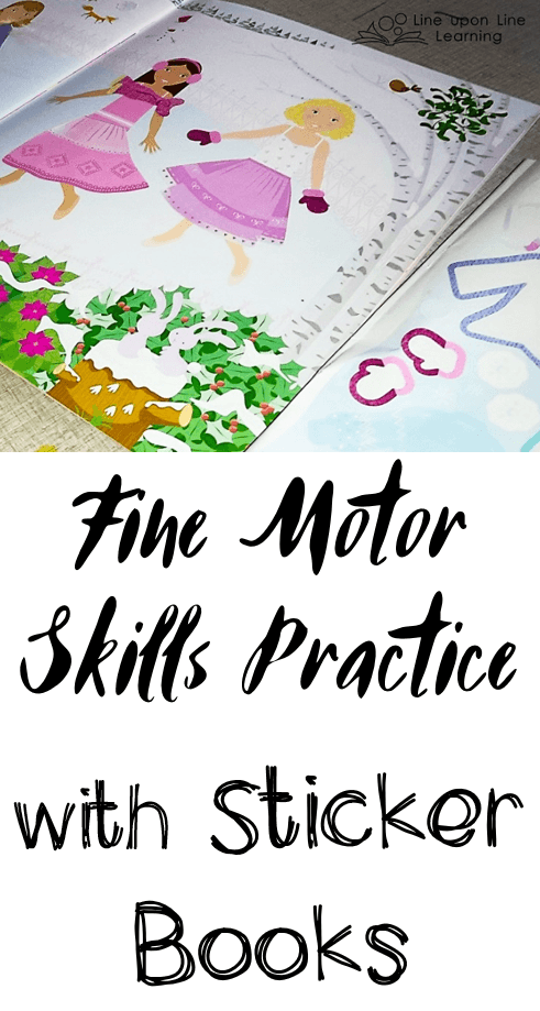 Playing with stickers is great fine motor skills practice!