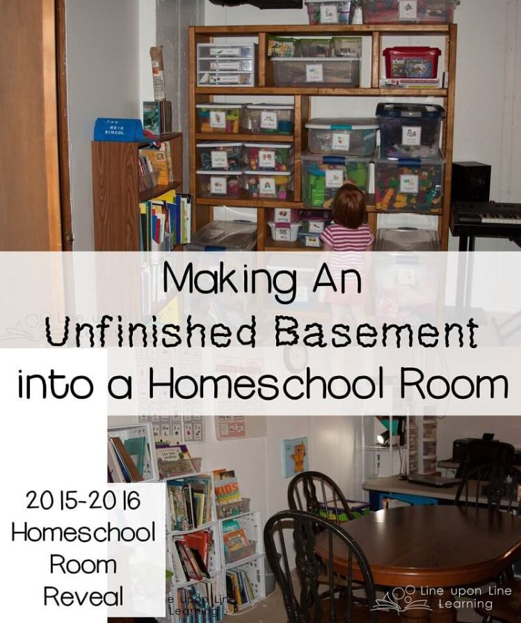 Making an Unfinished Basement into a Homeschool Room