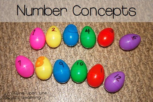Learning Number Concepts with Plastic Eggs