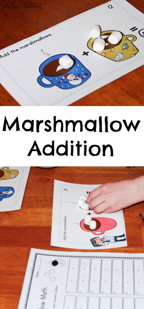Marshmallow addition just means additional marshmallows to nibble on as we practice math!