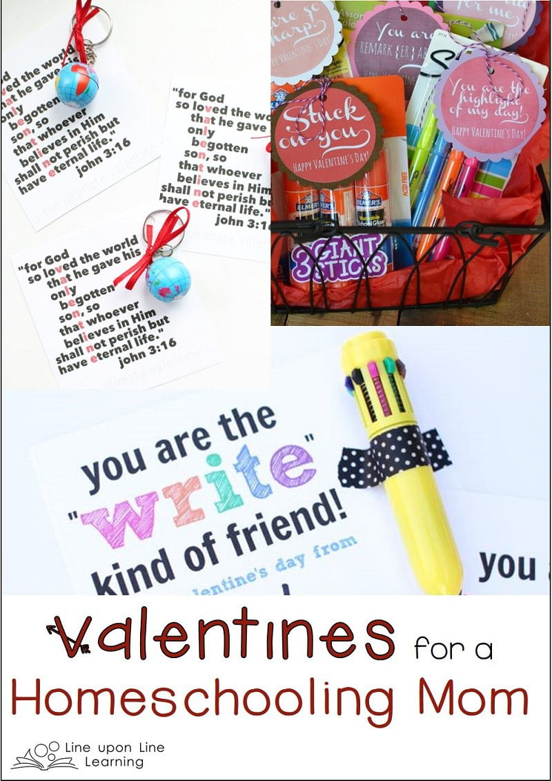 These valentines for a homeschooling mom are encouraging and thoughtful.