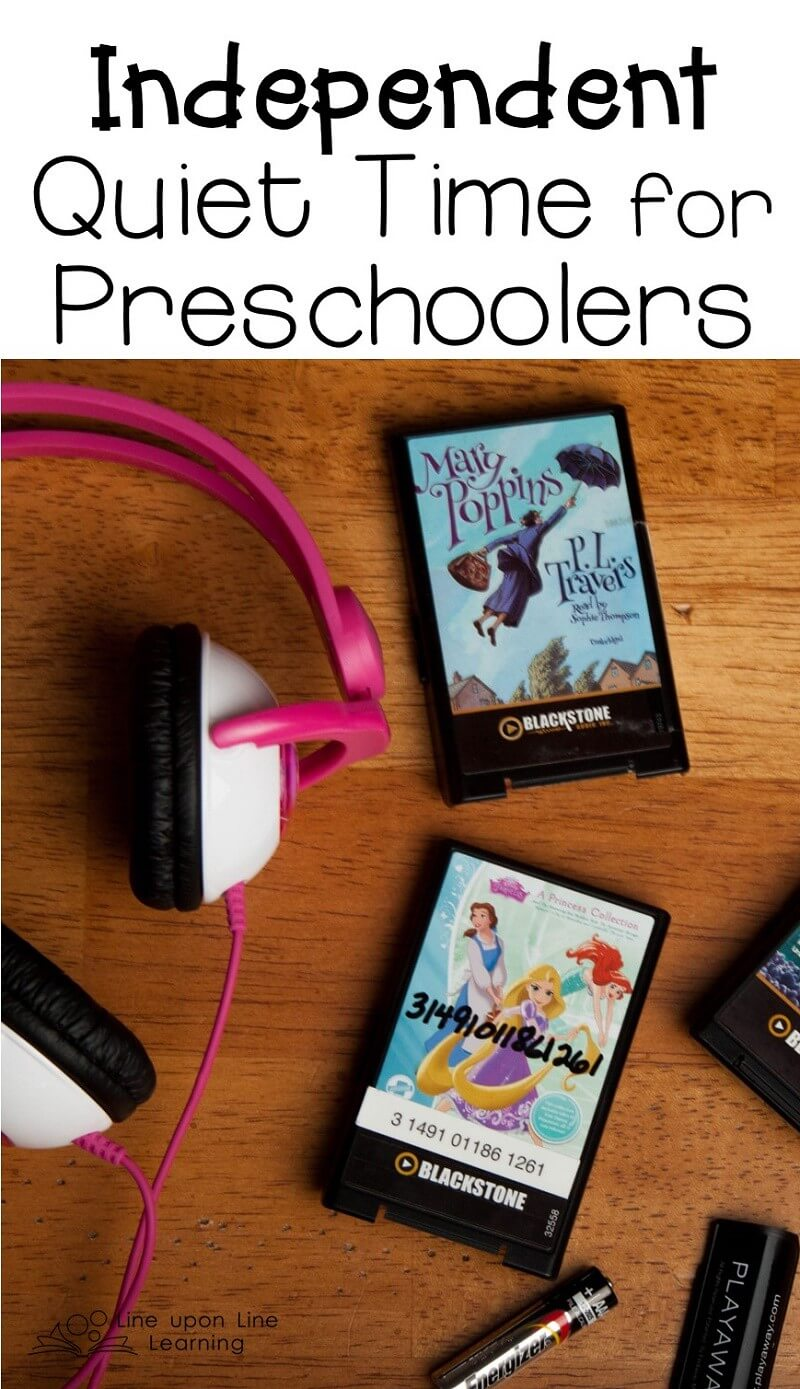 Audiobooks have helped my daughter have independent quiet time each day.