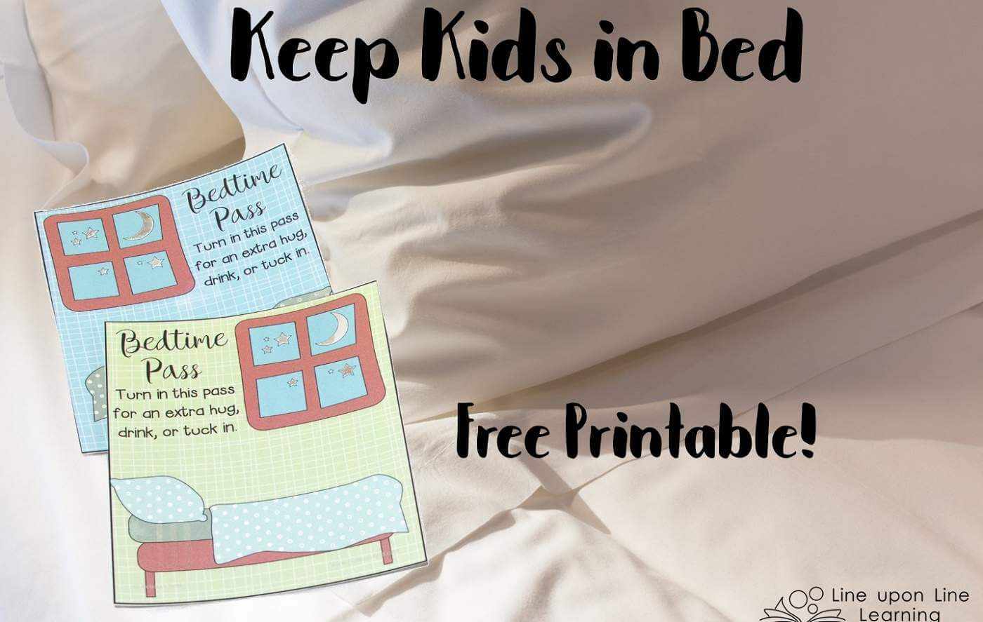 """I give two enticing """"tickets"""" each week, which allow her to come out of bed after bedtime. Now she is more in control of the bedtime routine, and she's learning that she is supposed to stay in bed."""