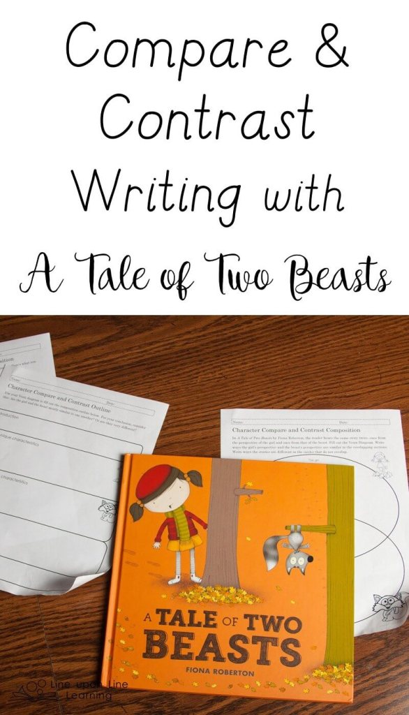 We compare the perspective of the two characters in A TALE OF TWO BEASTS, beginning with a Venn diagram to brainstorm.