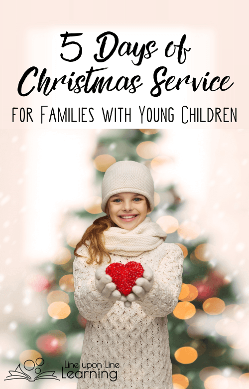 Get your children in the giving mood with this mini-series: 5 Days of Christmas Service for Families with Young Children