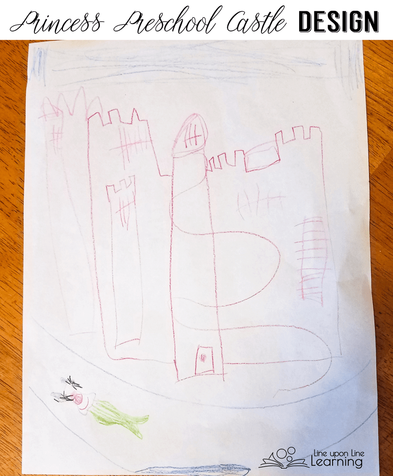 My daughter designed a castle for her Princess Preschool STEAM time with me.