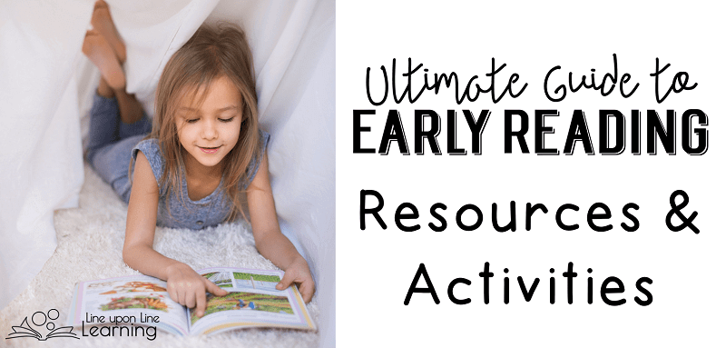 Get ideas on nurturing early readers in this ultimate guide to early reading resources and activities. CVC words, sight words, active games...ideas are here.