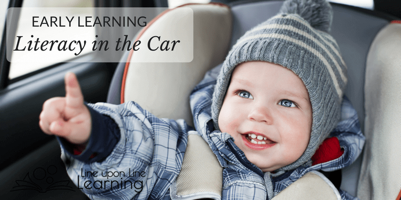 Have mini-lessons on literacy in the car as you run errands. It's like playing games your kids will love!