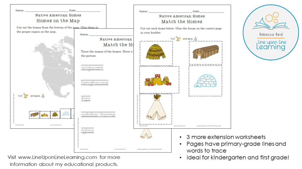 medium resolution of Native American Homes BUNDLE – Line upon Line Learning